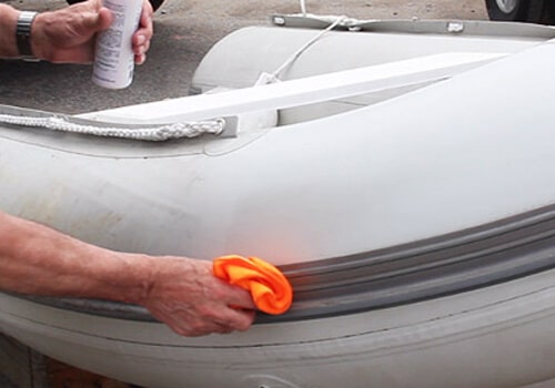 Cleaning inflatable pontoon boat